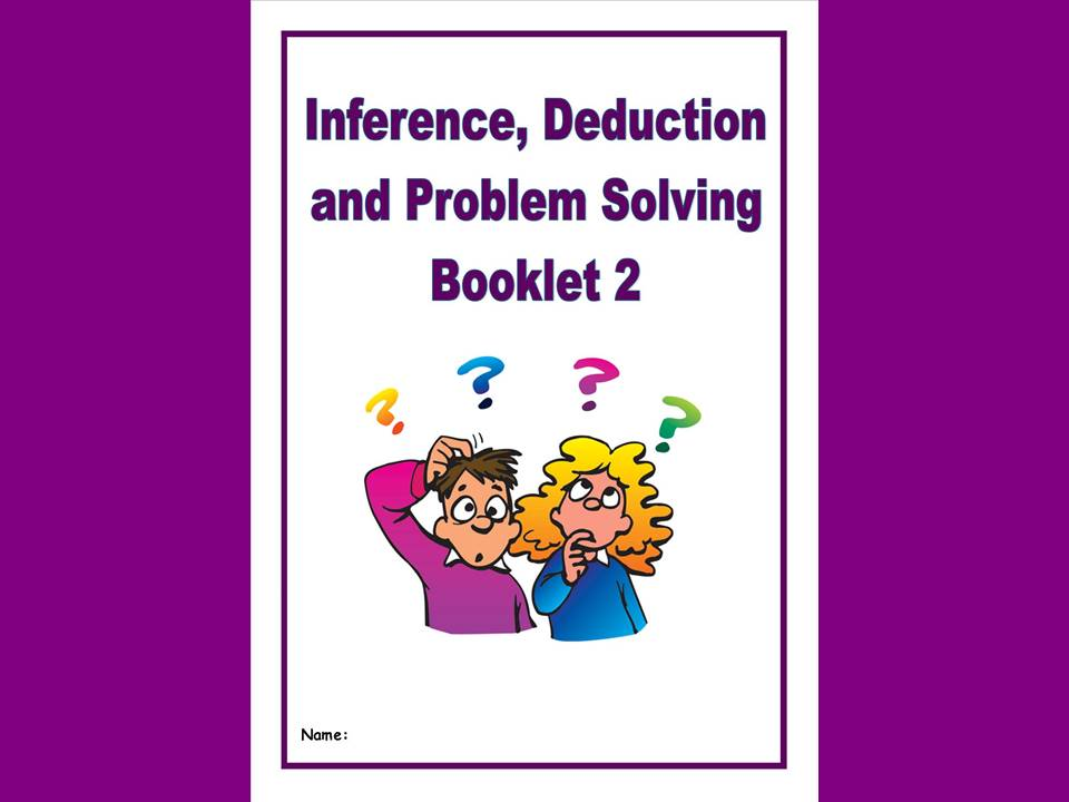 BRAND NEW! Inference, Deduction and Problem Solving Pack/Homework Booklet for KS2