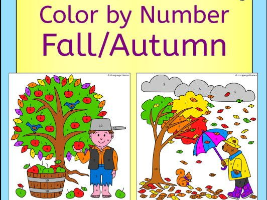 French Fall Autumn Automne Color by Number Activity