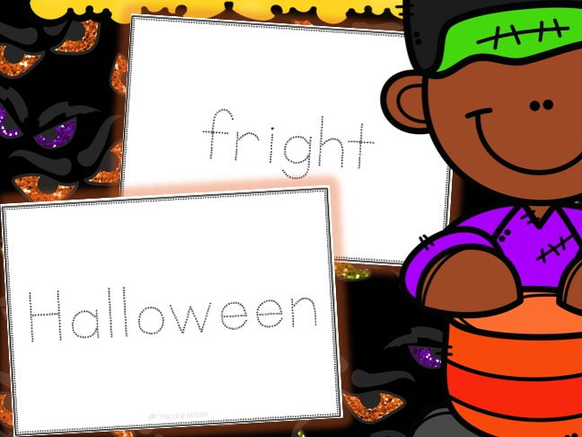 Halloween Handwriting Cards
