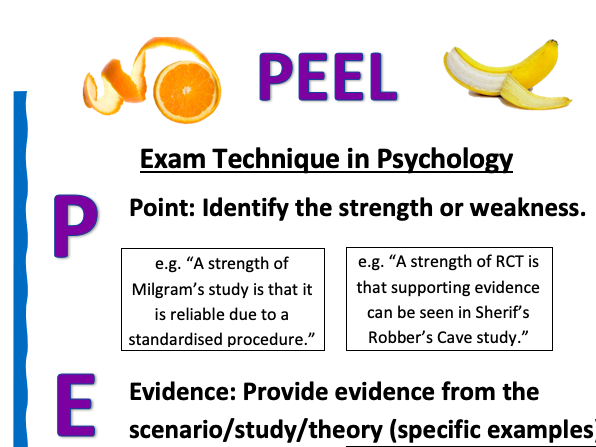 A Level Psychology Writing Frames Posters