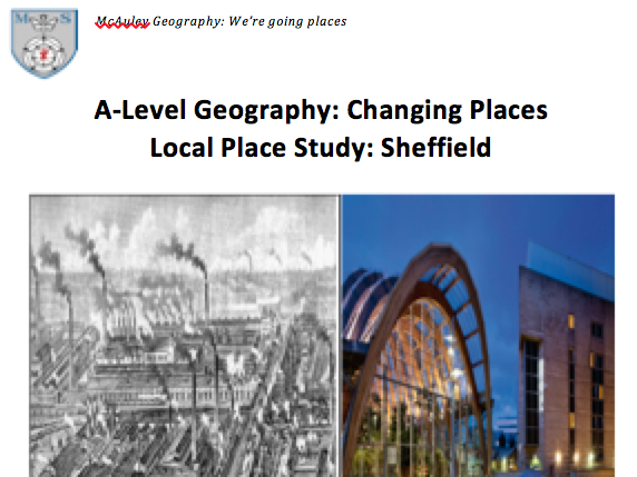 **New AQA GEOG A-LEVEL - CHANGING PLACES** PLACE STUDY BOOKLET