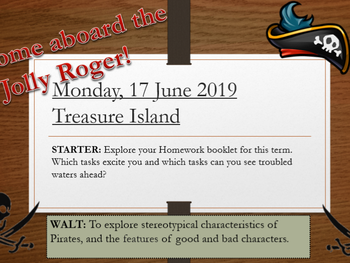 Year 7 Treasure Island- Lessons 1-20