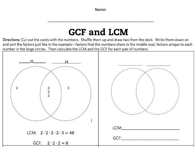 Gcf And Lcm Venn Diagram Selol Ink