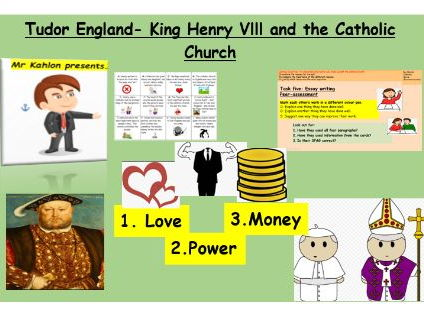 EAL/SEN/ Primary Henry Vlll lesson and his break up with the Catholic Church