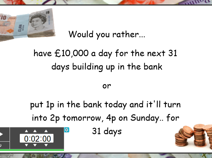 £10k a day or invest your penny?