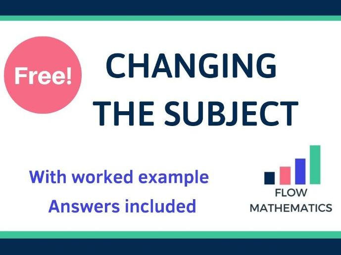 Changing the subject worksheet.