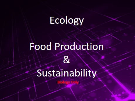 New AQA (9-1) GCSE Biology Ecology:Efficient and Sustainable Food Production  (4.7.5.2-4.7.5.4)