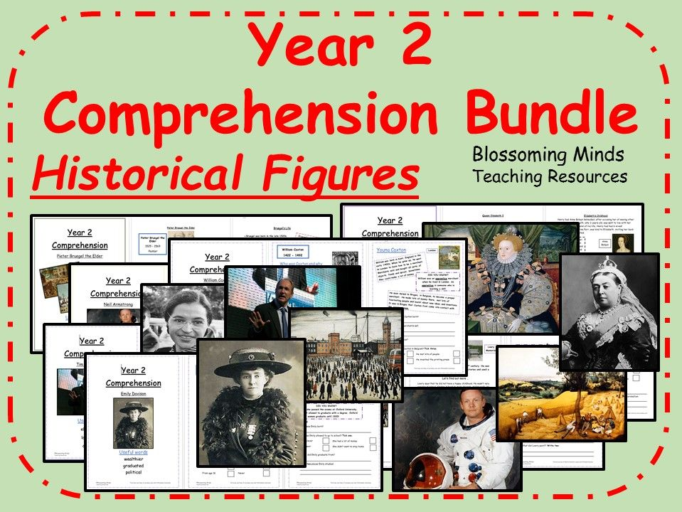 Year 2 Reading Comprehension Mega Bundle - Historical Figures