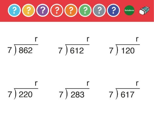 Division: 3 digit  by 1 digit with remainders. Dynamic PDF Worksheet