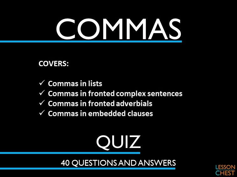 Commas Quiz