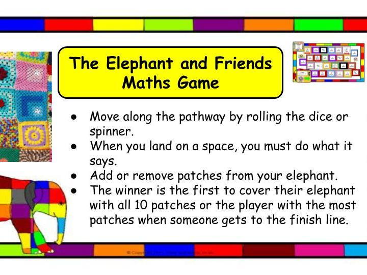 The Elmer the Elephant and Friends Maths Game KS1/SEN/EYFS