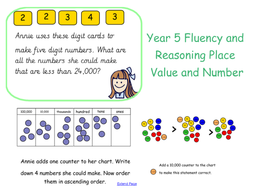 Year 5 Place Value Fluency And Reasoning Tasks By Missjg133
