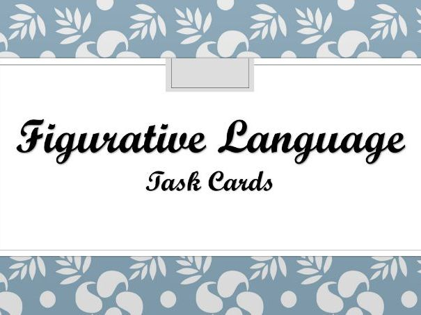 Differentiated  Figurative Language Task Cards