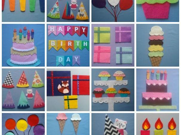 Happy Birthday Felt Board Pattern eBook