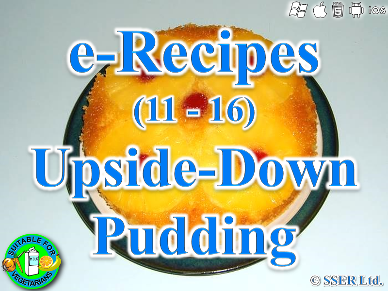 27.   Upside-Down Pudding (e-Recipe)