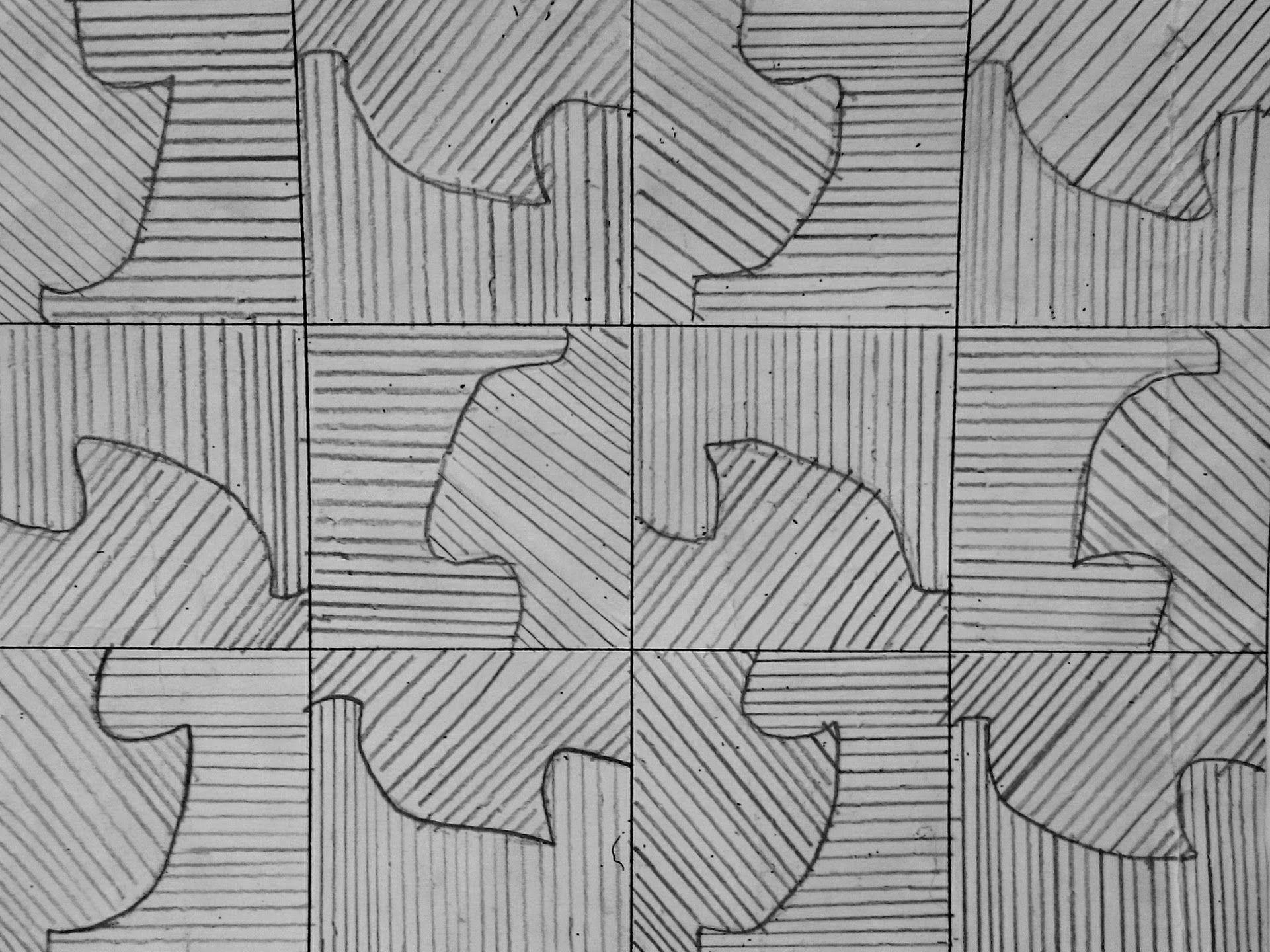 Creating patterns inspired by MC Escher (Scheme of Work)