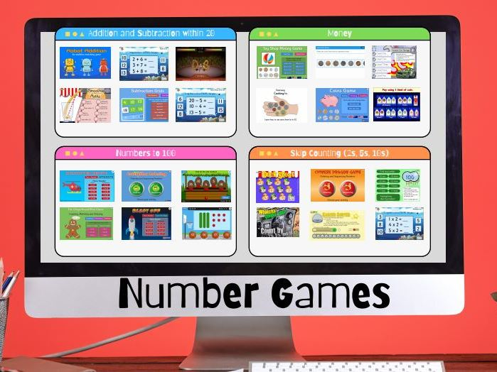 Early Years Mental Maths/Number Games Dashboard
