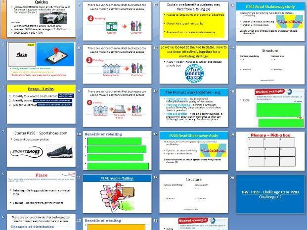 Edexcel GCSE Business Theme 2 - 2.2.4 and 5 Place