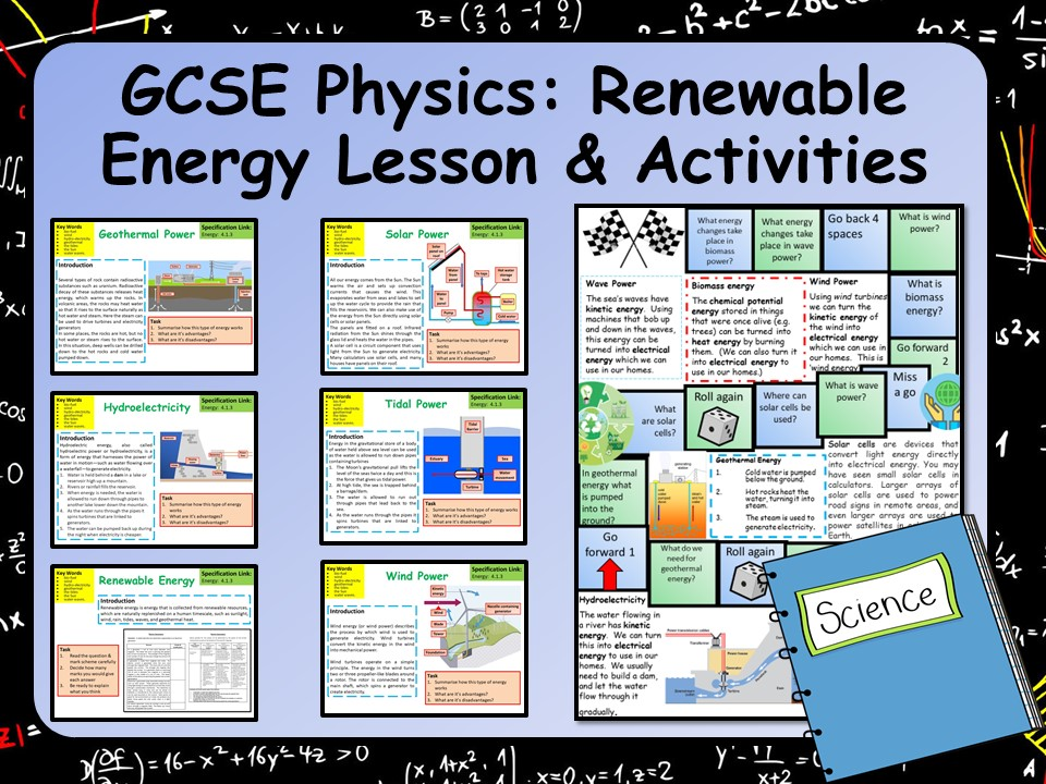 KS4 AQA GCSE Physics (Science) Renewable Energy Lesson | Teaching Resources