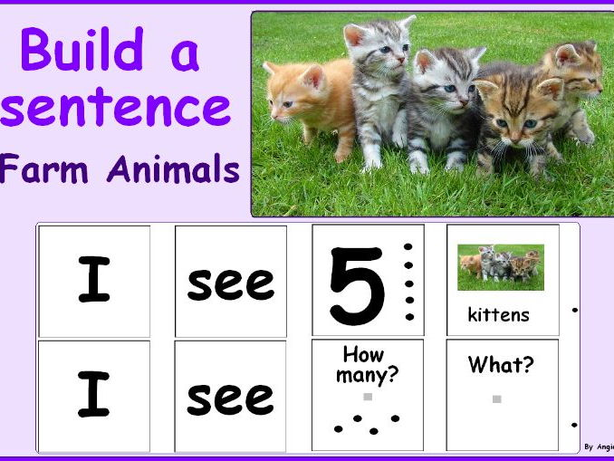 Farm Animals Building Sentences