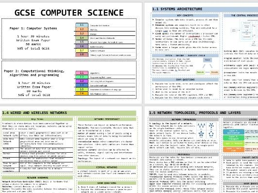 GCSE OCR Computer Science Knowledge Organisers for Revision