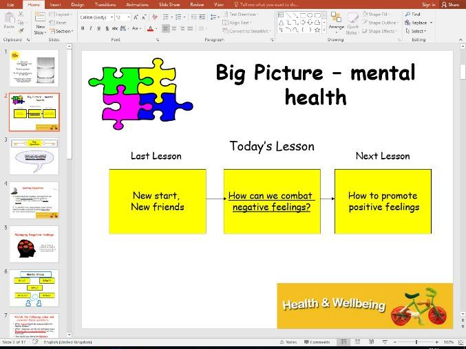 Health and Wellbeing - mental health 1