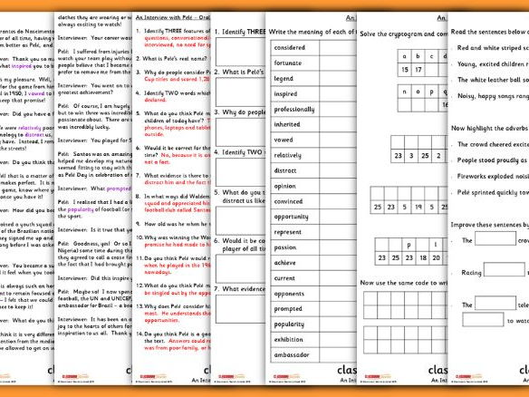 KS2 Black History Carousel Guided Reading Interview with Pele