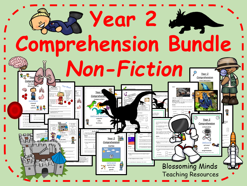 Year 2 Reading Comprehension Pack - Non-fiction