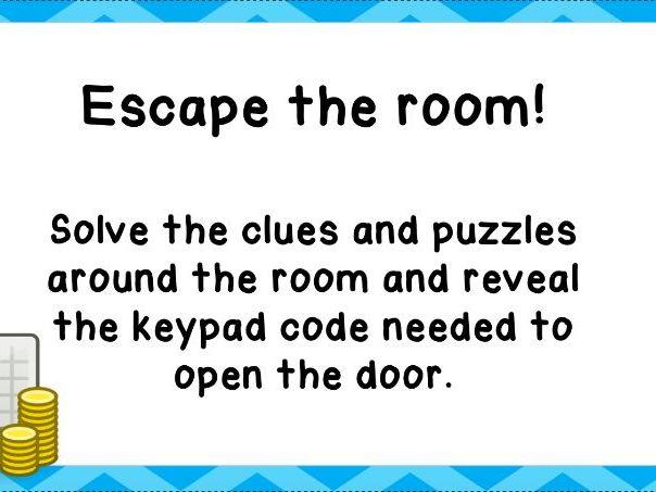 Business Studies Introduction Lesson - Escape Room