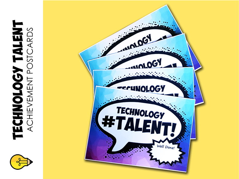 Technology : Talent Postcards (rewards & achievement)