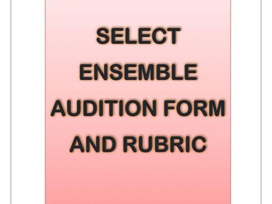 Choir/Ensemble Audition form