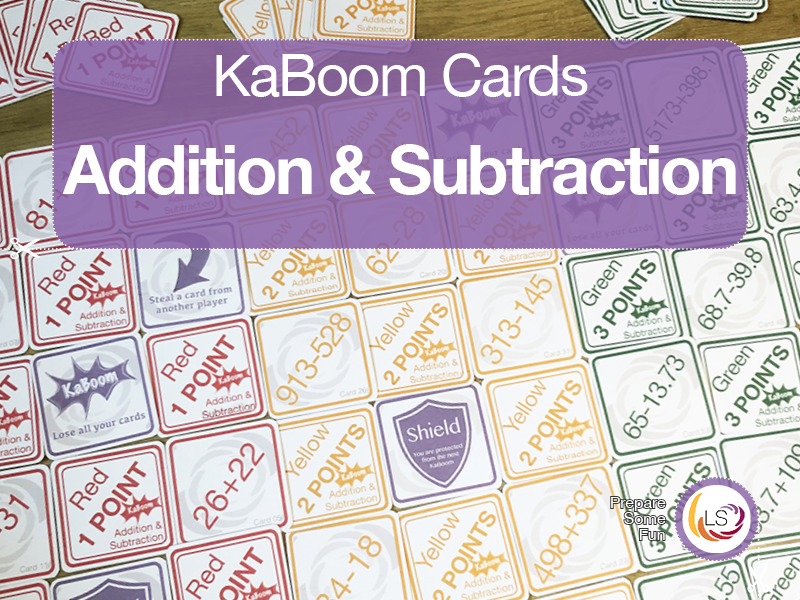 Addition and Subtraction | KaBoom Card Game
