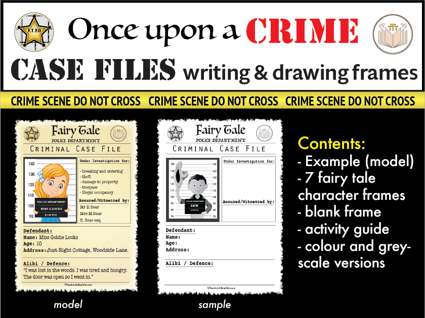 Fairytale Crime Case File Writing Frames