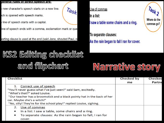 Editing Narrative writing KS2 and SATs