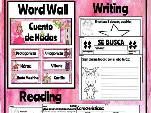 Spanish Fairy Tales - Reading & Writing Activities