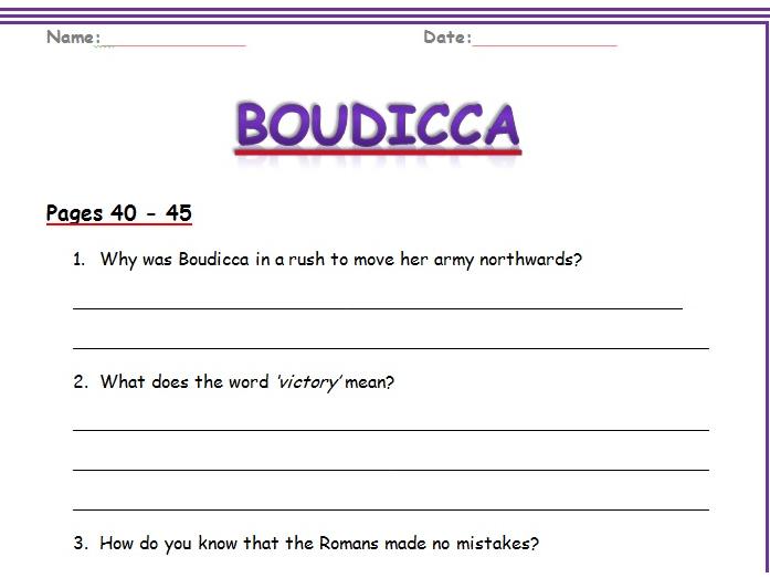 Boudicca Reading Comprehension KS2