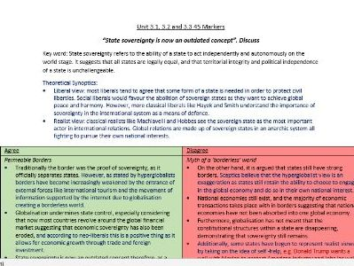 Edexcel Global Politics- Essay Plans (3)