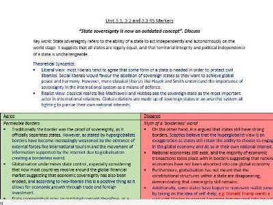 Edexcel Global Politics- Essay Plans (3)