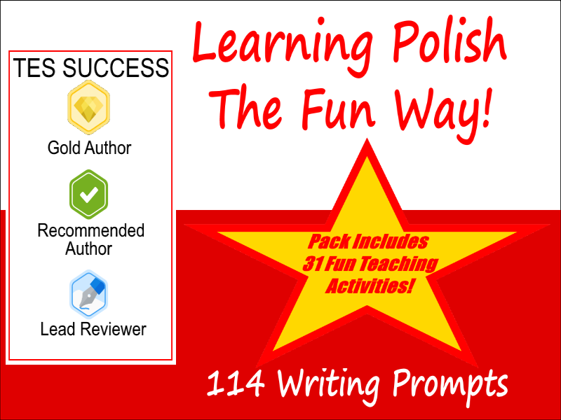 114 Polish Writing Worksheets For Writing Practice + 31 Fun Teaching Activities For These Cards
