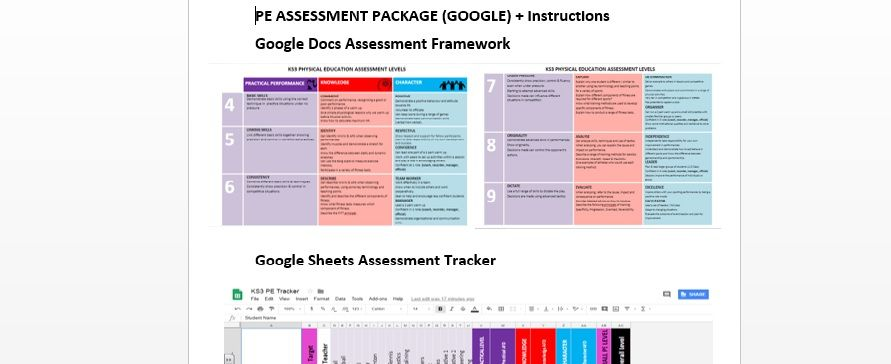 PE ASSESSMENT PACKAGE for Google
