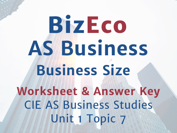 CIE AS Unit 1 Topic 7 Business Size