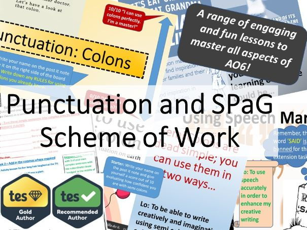 Complete Punctuation and SPaG Scheme of Work.