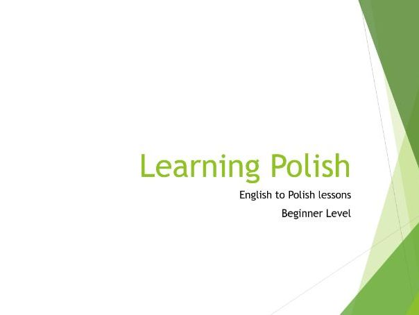 Beginner Polish - Lesson 1 (Simple)