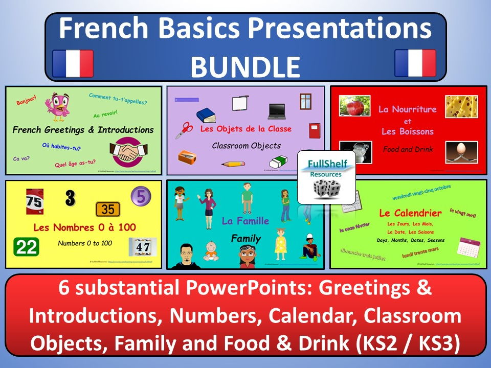 KS2 / KS3 French Lesson Presentations
