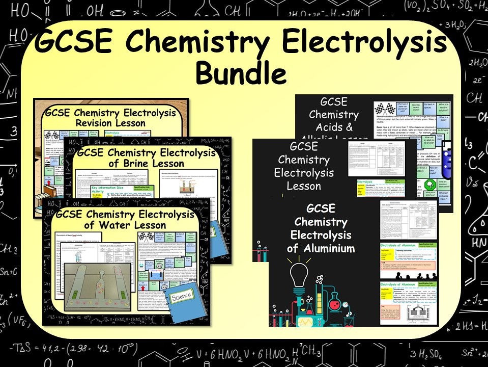 KS4 GCSE Chemistry (Science) Electrolysis Bundle