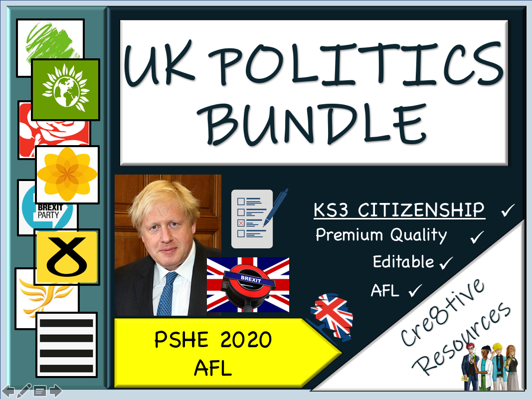 UK Politics Bundle by cre8tivecurriculum | Teaching Resources
