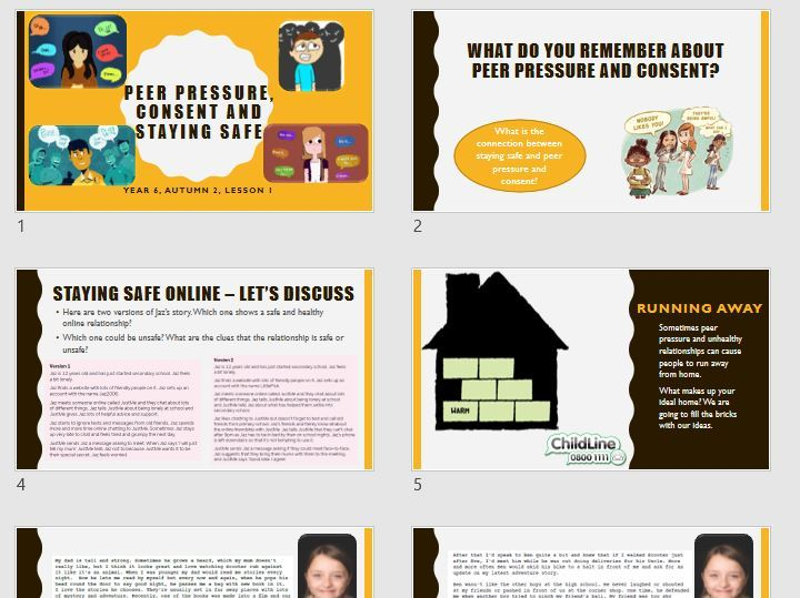 Keeping yourself safe - peer pressure and consent - Year 6 PSHE  2020 curriculum