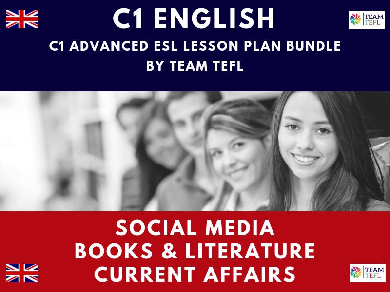 Social Media / Books & Literature / Current Affairs C1 Advanced ESL Lesson Plan Bundle