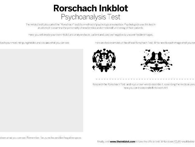 Rorschach's Psychoanalysis Test