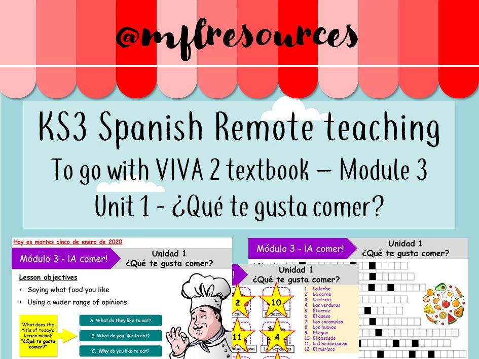 KS3 Spanish (remote learning) - Viva 2 - Module 3 - Unit 1 - Qué te gusta comer